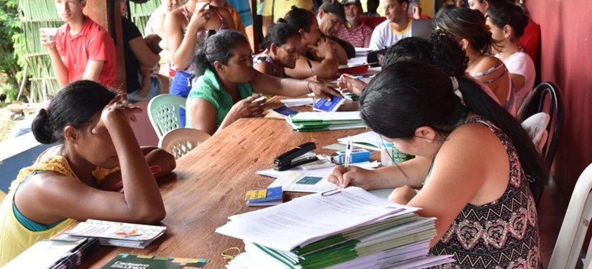 Semas atualiza CadÚnico de famílias do Assentamento Taboqueira