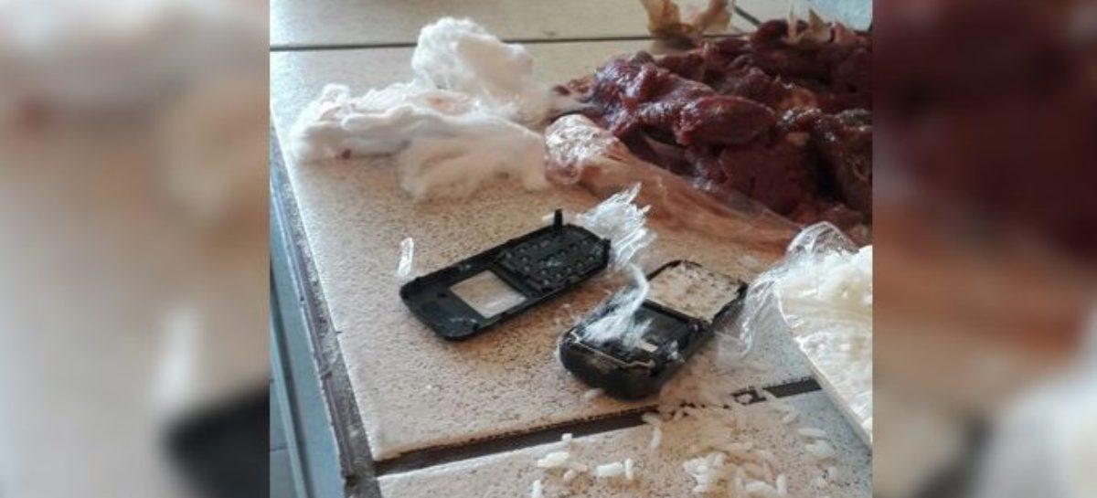Mulher é presa ao entrar em penitenciária com celular na comida