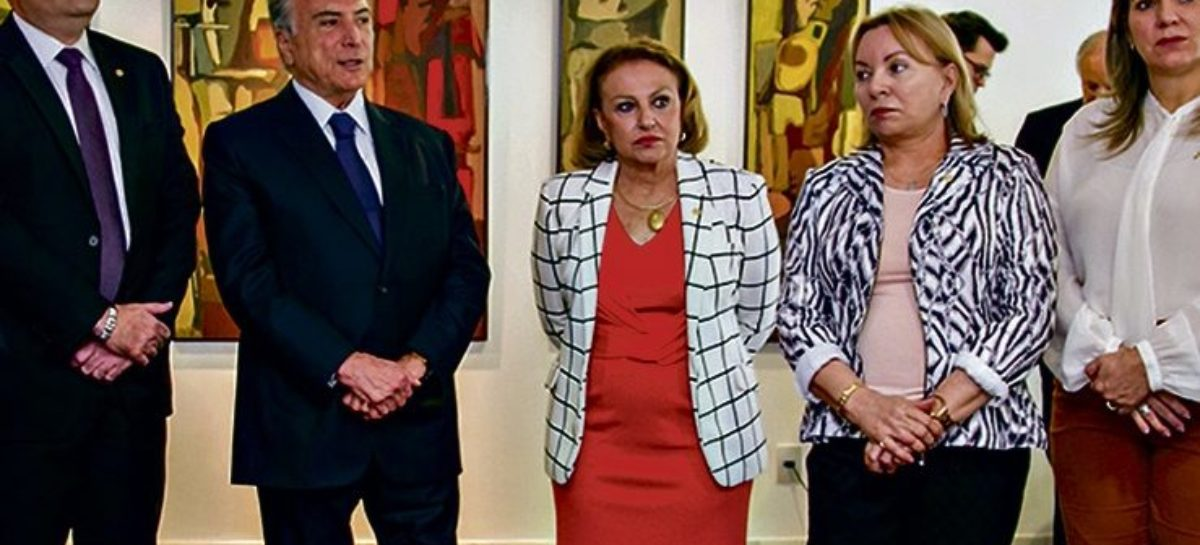 Elcione pede apoio a Michel Temer