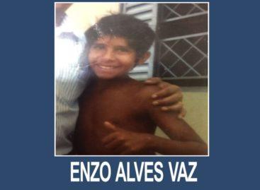 ENZO ALVES VAZ ESTÁ DESAPARECIDO