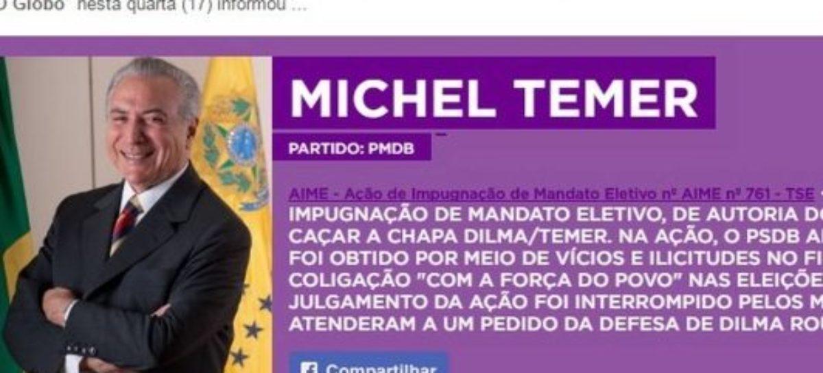 App que monitora políticos ficha suja é atualizado e inclui nome de Michel Temer