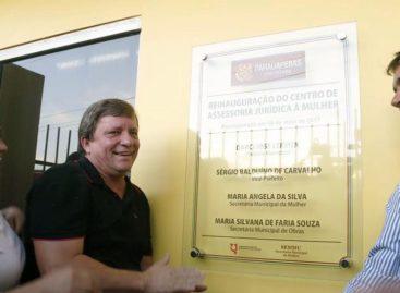 Prefeito Darci reinaugura Centro de Assessoria Jurídica à Mulher.