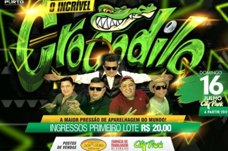 Hoje no City Park tem show do CROCODILO, o animal do Pará
