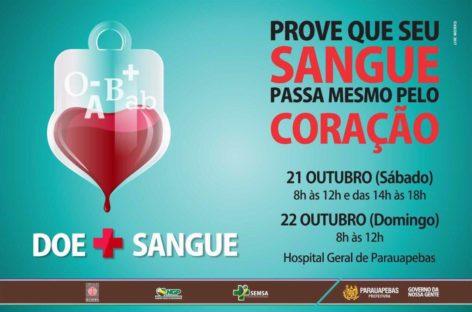 Campanha de Doação de Sangue será realizada neste final de semana