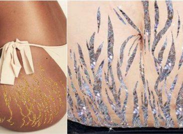 Artista transforma estrias em glitter para inspirar mulheres