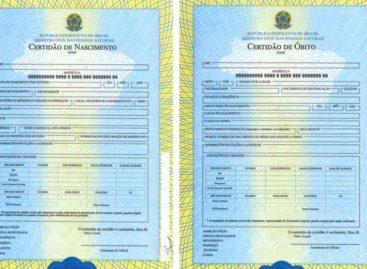 Certidões de nascimento, casamento e óbito recebem mudanças
