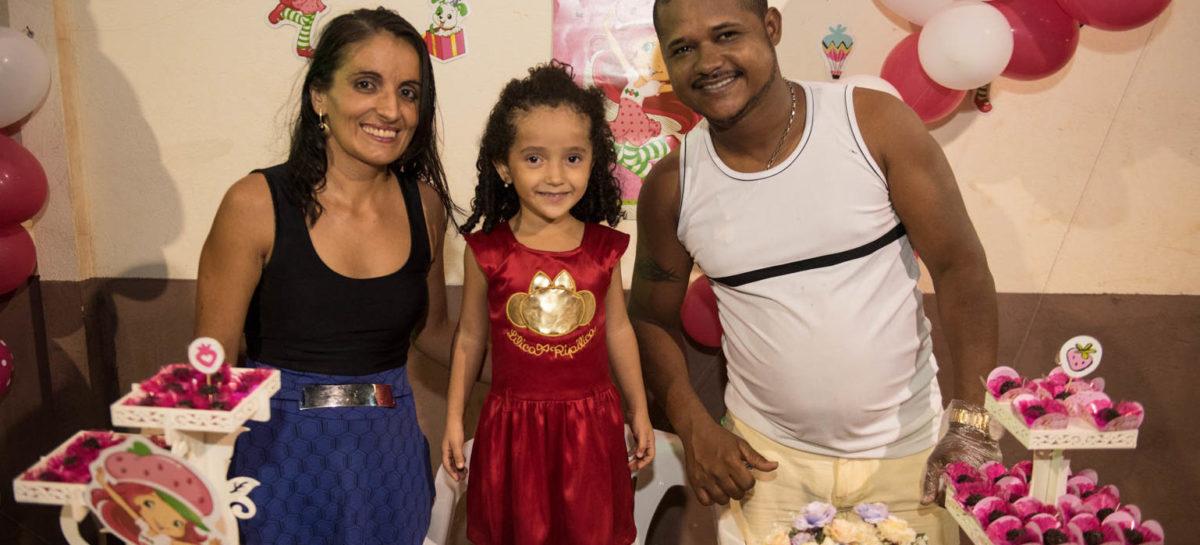 Solara Brito Moreira comemorou seu 4º aniversário